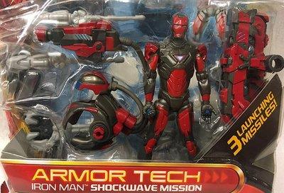 C-5 櫃 : 2010 IRON MAN 鋼鐵人 ARMOR TECH SHOCKWAVE MISSION 天貴玩具店