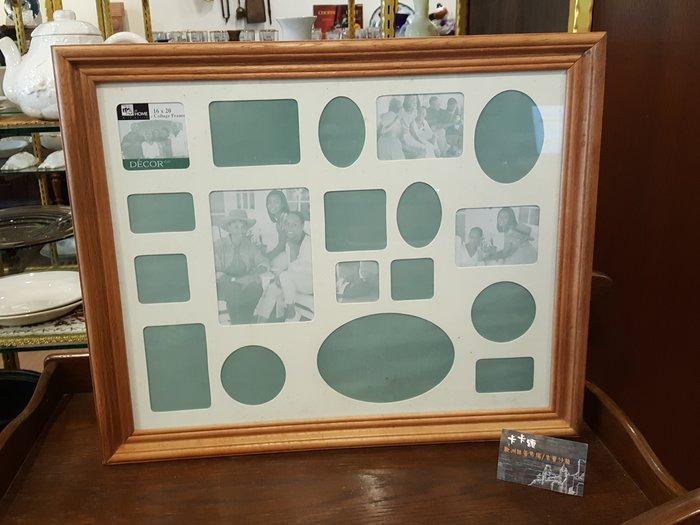 【卡卡頌 歐洲跳蚤市場/歐洲古董】歐洲老件_實木框 掛畫 多格式 照片相框 pa0131 提供租借