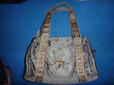 ~保證真品 Anna Sui 紫灰色帆布款肩背包 大方包 手提包~便宜起標無底價標多少賣多少