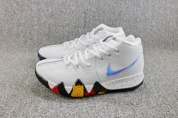 Nike Kyrie 4 白色 百搭 炫彩 經典 休閒運動籃球鞋 男鞋 943807-104