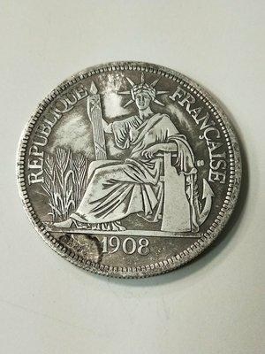1908法國座洋貿易銀