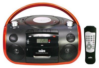 [卡帶可錄廣播及現場錄音]  SAMPO 聲寶 CD/MP3/USB/SD 收錄音機 / 手提音響 AK-W1602UL