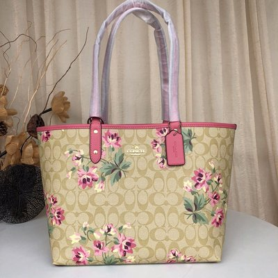 【Woodbury Outlet Coach 旗艦館】COACH 72844 雙面用子母包 購物袋 美國代購100%正品