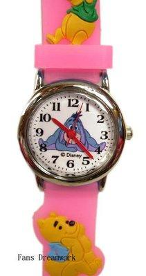 【卡漫迷】 Winnie 兒童錶 粉色 ㊣版 手錶 屹耳 女錶 小熊 維尼 維尼熊 卡通錶 260元