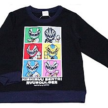 *小栗鼠散步鋪*日本帶回 超級戰隊 騎士龍戰隊 長袖上衣 刷毛款 黑色 保暖 外出 上學 過年新衣