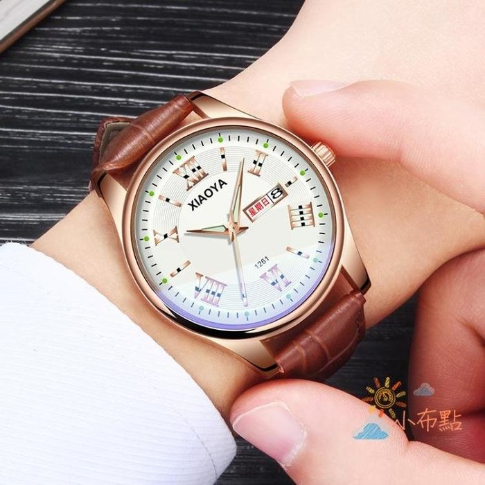 流行男錶男士手錶防水時尚2018新款正韓潮流學生夜光石英腕錶非機械錶男錶