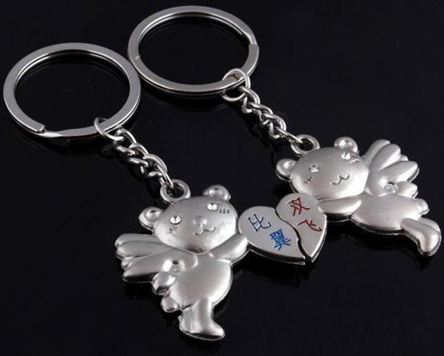 ☆創意小物店☆情侶鑰匙扣(比翼雙飛) 鑰匙圈/創意可愛金屬鑰匙圈 時尚造型個性飾品