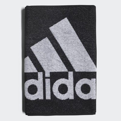 南◇2020 1月 ADIDAS TOWEL  運動毛巾 小毛巾 小浴巾 毛巾 黑色 雙面 黑白 棉質 DH2860 台北市