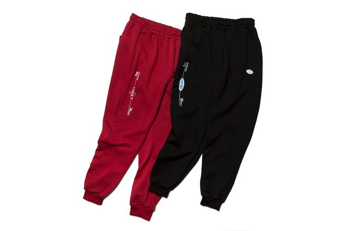 { POISON } PRETTYNICE CD-IT SWEAT PANT-S 舊時代圖像點綴 修身版型棉褲