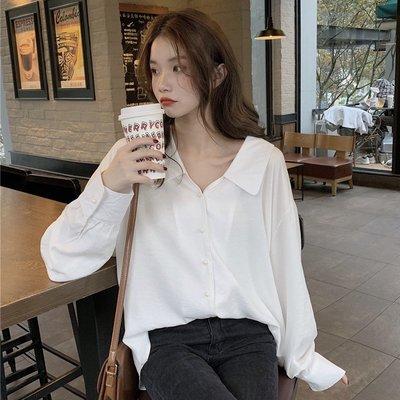 Corle韓國女裝2021早春新款娃娃領襯衫女甜美日系白長袖襯衣設計感小眾別致上衣