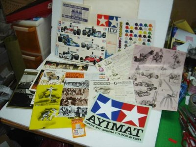 絕版古董1977年 TAMIYA 雙星 MODEL CO CATALOG 産品介紹貼紙套裝