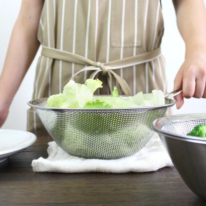 發現花園 日本選物~日本製 柳宗理 不鏽鋼 把手 濾網 - 23 cm