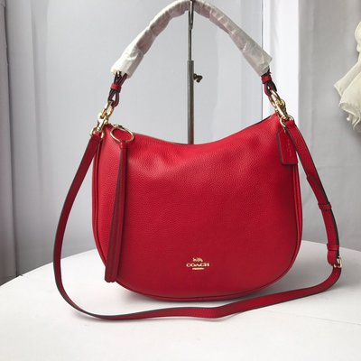 【Woodbury Outlet Coach 旗艦館】COACH 35593 新款牛皮半月包 斜跨包美國代購100%正品