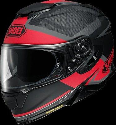 《鼎鴻》SHOEI全罩式彩繪安全帽GT-Air II AFFAIR TC-1 黑/紅消光 (內建式墨片)