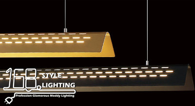 【168 Lighting】都市生活《LED吊燈》(兩色)金色GE 81112-2