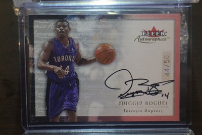 2000-01 Fleer Gold Auto Muggsy Bogues 限量50張金簽名卡