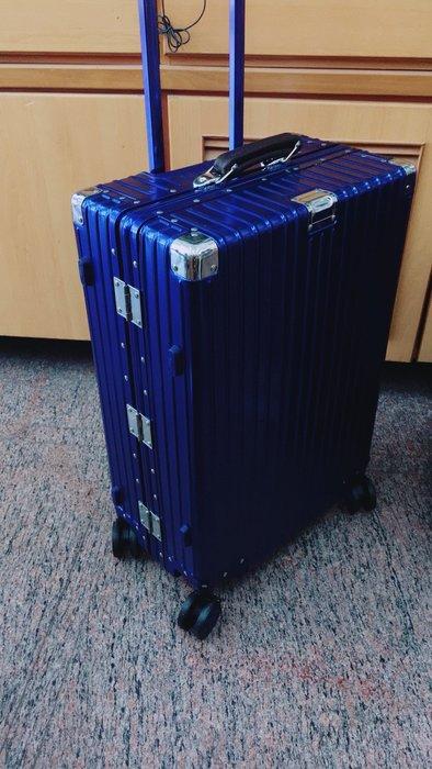 29吋全鋁鎂合金 皮質手把 鋁殼 行李箱 萬向輪 拉桿箱 出遊商務 旅行箱