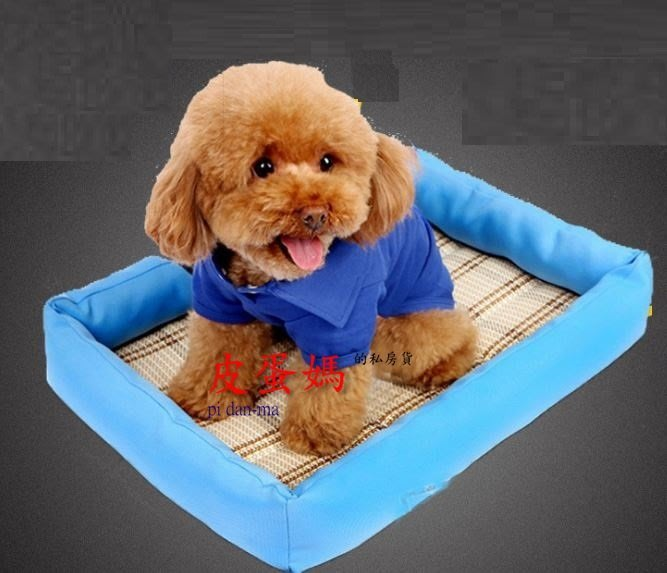 【皮蛋媽的私房貨】BED0650寵物草蓆竹席-涼蓆消暑涼墊/寵物窩/貓窩狗窩/貓床狗床/睡墊軟墊/沙發墊-寵物床貓床S