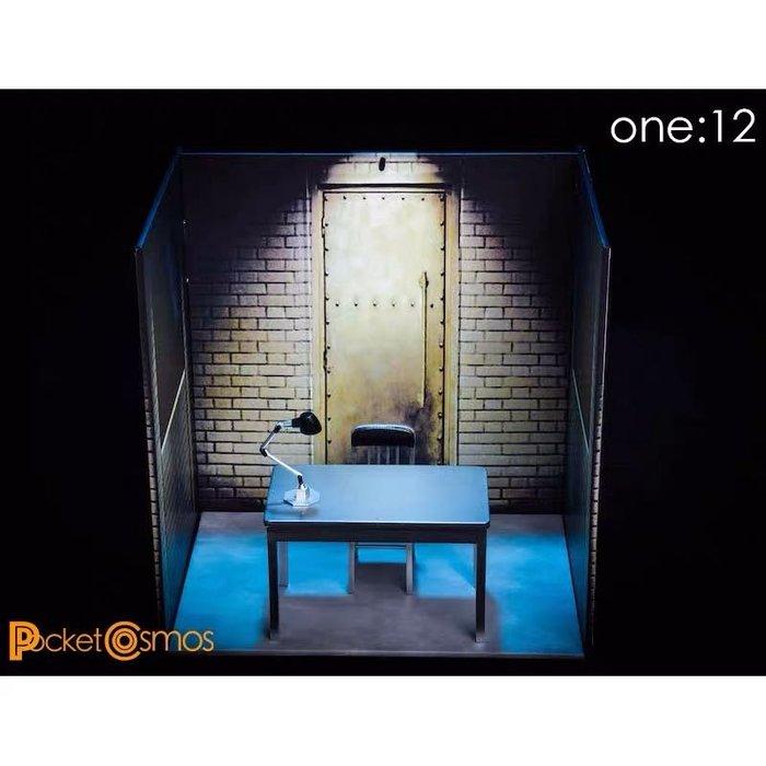 PCTOYS 112模型  PC006 場景 套裝  拷問室 1/12 適合Mezco shf 螞蟻桌子椅子