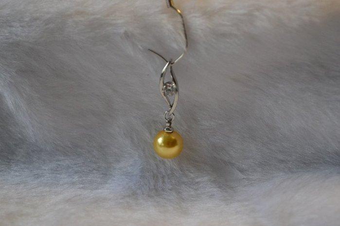 8888南洋珍珠貝貝寶珠貝珠深金色8mm 款