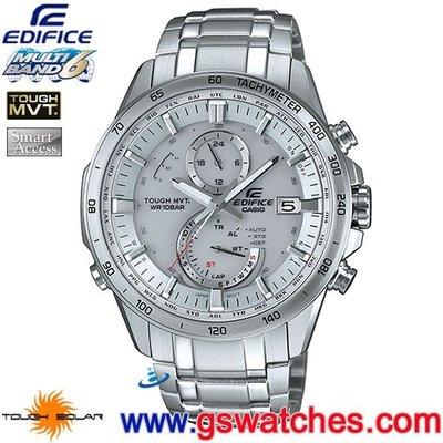 【金響鐘錶】全新CASIO EQW-A1400D-7ADR,公司貨,EQW-A1400D-7A,EDIFICE,電波時計