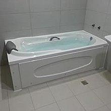 優質精品衛浴(固定式浴缸特殊乾式工法,施打防霉膠) RF-178空缸白色雙牆+發泡把手.枕頭 安裝施工圖1份