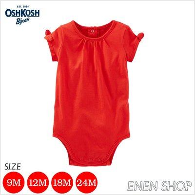 『Enen Shop』@OshKosh Bgosh 紅色蝴蝶結氣質款包屁衣 #295211|9M/12M/18M