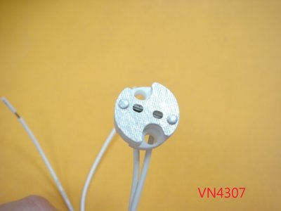 【全冠】MR16 圓形陶瓷燈座 陶瓷燈座 杯燈陶瓷燈座 MR16杯燈座 (VN4307)