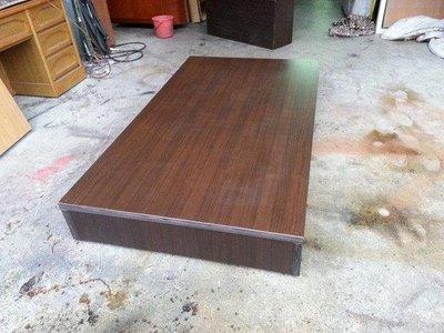 【安鑫】胡桃色3.5尺單人加大【3.5X6.2尺】六分木芯板床架床板床底床箱【A150】 新北市