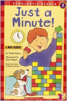 [文閲原版]學樂分級讀物2級 一分鐘 英文原版 Just a Minute (Hello Math Reader) 數學基礎概念 認知識物