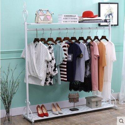 『格倫雅』歐式鐵藝衣帽架掛衣架落地臥室簡易衣架家用衣服架收納架^15749