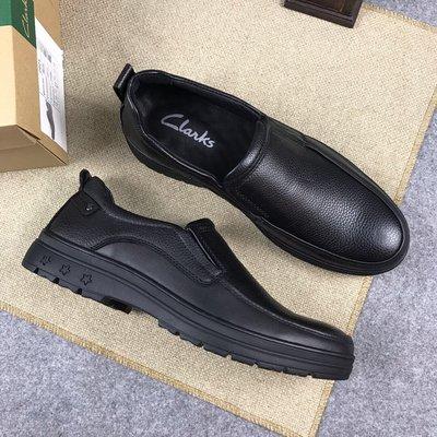 clarks新款老少通吃休閒司機鞋柔軟舒適爸爸鞋英倫風格皮鞋 黑色 38-44碼
