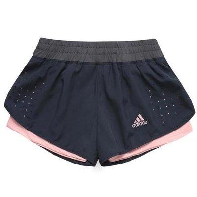 新款女子運動短褲健身瑜伽防走光跑步短褲假兩件速乾透氣運動褲