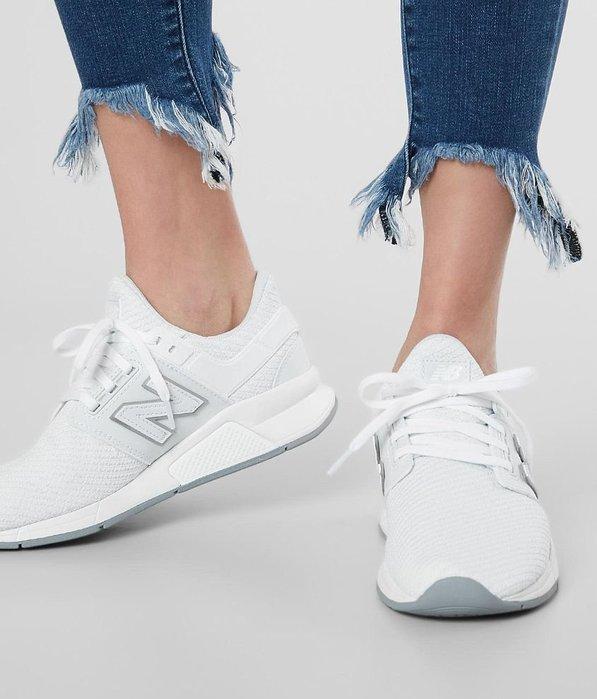 南◇2019 6月 NEW BALANCE NB247 全白色 編織 情人節 白銀色 女鞋 Ws247th 仙杜瑞拉