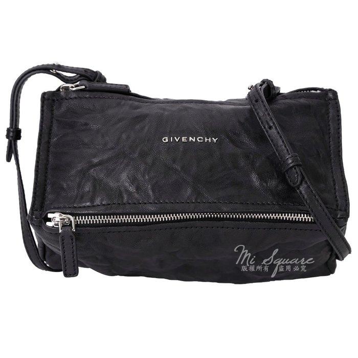 米蘭廣場 GIVENCHY Pandora 綿羊皮鞣製斜背包(mini/黑色) 1620049-01