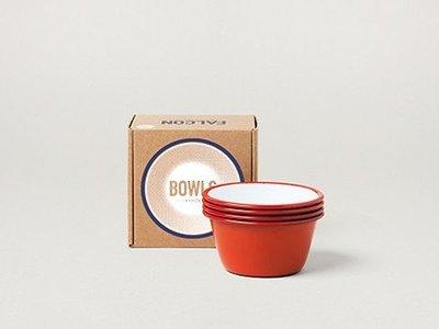 Falcon 琺瑯 12cm 小圓缽四件組 鮮果紅 Bowls 英國獵鷹琺瑯 delicateworld