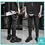 DOT聚點 Korea Suiting Pants 黑灰 格紋 上寬下窄 西裝布料 九分褲 窄版 彈性 韓國製