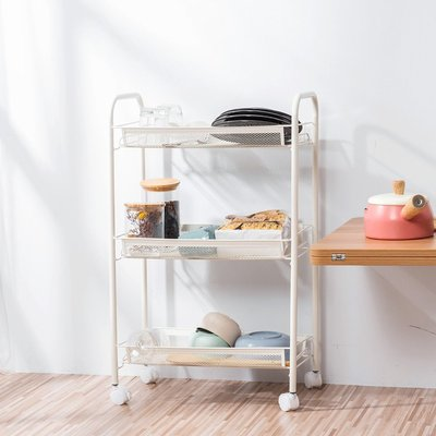 收納架 置物架 廚房收納衛浴架-附輪收納車 三層萬用推車【A007】