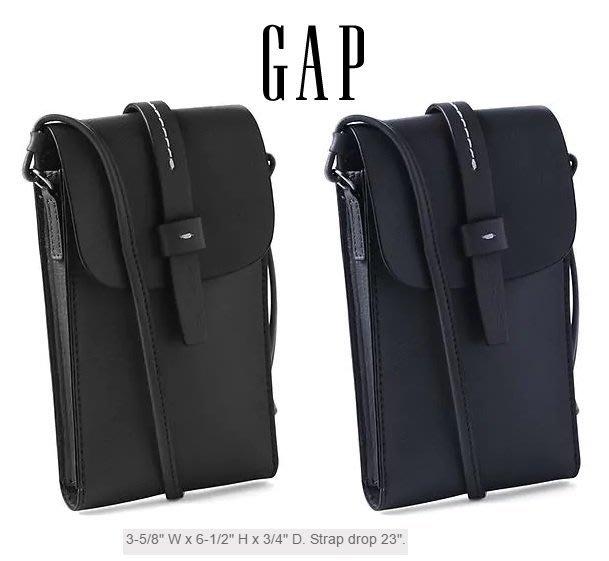 GAP 小 斜背包 手機包 零錢包 人造皮材質