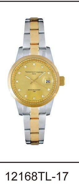 (六四三精品)Valentino coupeau(真品)(全不銹鋼)精準女錶(附保証卡)12168TL-17