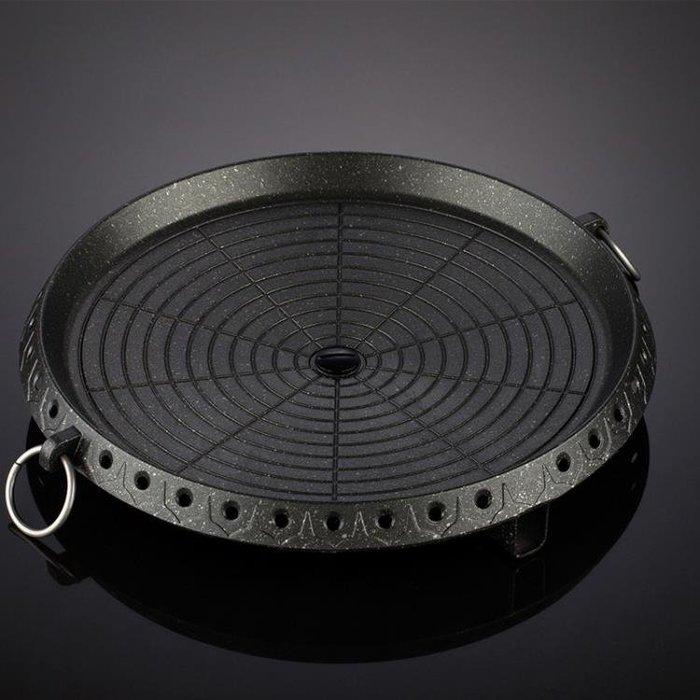 現貨/脈鮮卡式爐專用不黏鍋韓式燒烤盤戶外野炊烤肉盤鐵板燒無煙烤盤1SP5RL/ 最低促銷價