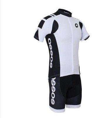 二套免運 車隊 黑白 短袖 自行車套裝 車衣 車褲  腳踏車衣 大尺碼 S~5XL s109
