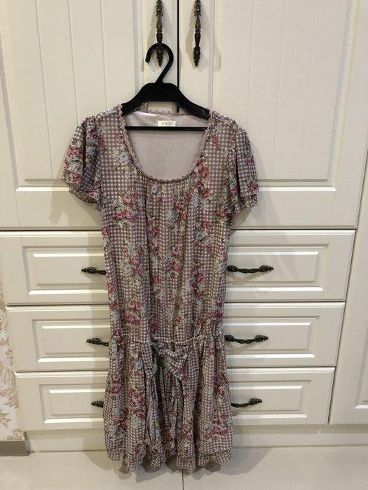 0918玫瑰格紋洋裝~1299