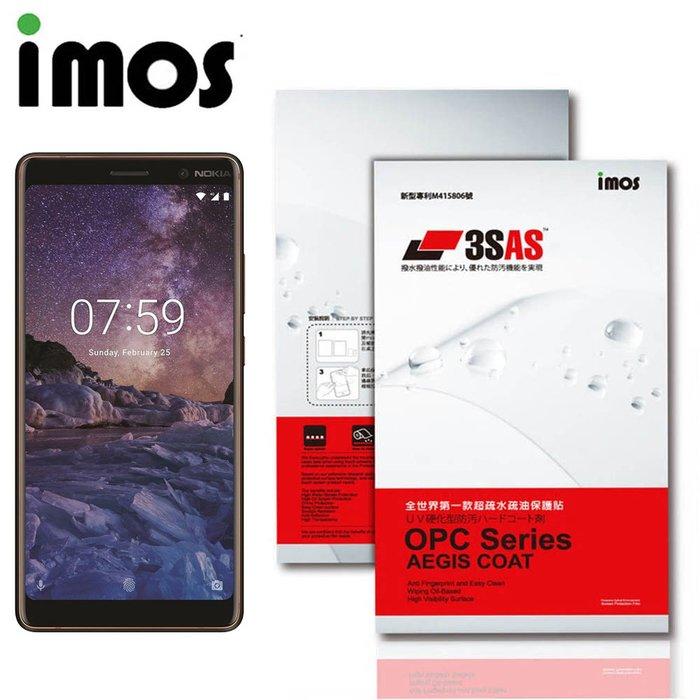 iMos NOKIA 7 Plus 3SAS 疏油疏水 螢幕保護貼