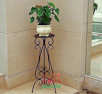 美學101歐式 鐵藝花架落地式花幾 室內客廳單層綠蘿花盆架白色吊蘭花架38❖9936