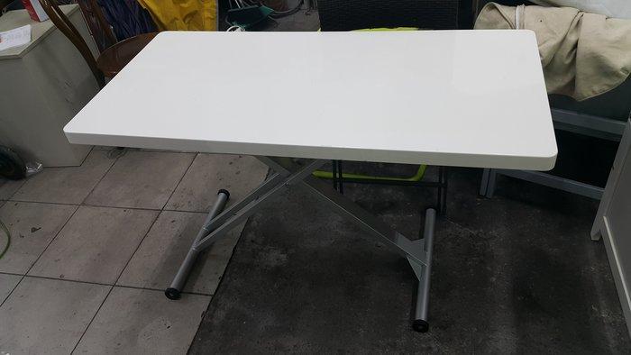 樂居二手家具 全新中古傢俱賣場 E0427BJJH 白色可調式餐桌*工作桌 洽談桌 書桌 二手家具買賣/餐椅洽談椅電腦桌