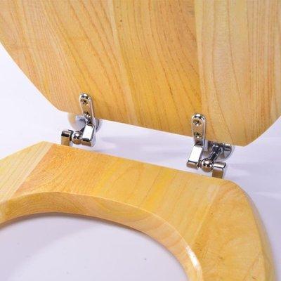 金屬鉸鏈實木馬桶蓋 純實木頭VUO型通用馬桶蓋純實木坐便器蓋板