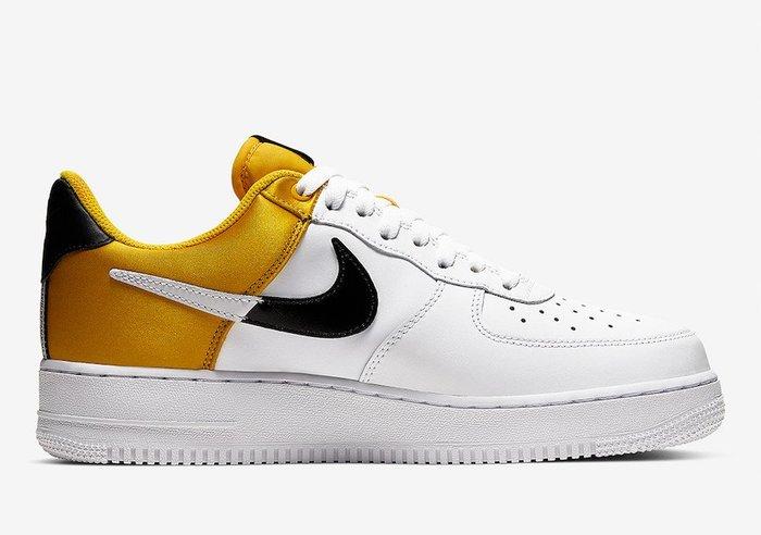POMELO柚 Nike Air Force 1 NBA Amarillo Satin 白 金色 BQ4420-700