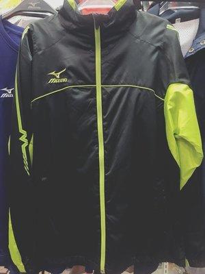 MIZUNO 男款 秋冬 休閒 防風 防潑水 保暖 立領外套 內刷毛 發熱 32TE459093 黑綠 現貨