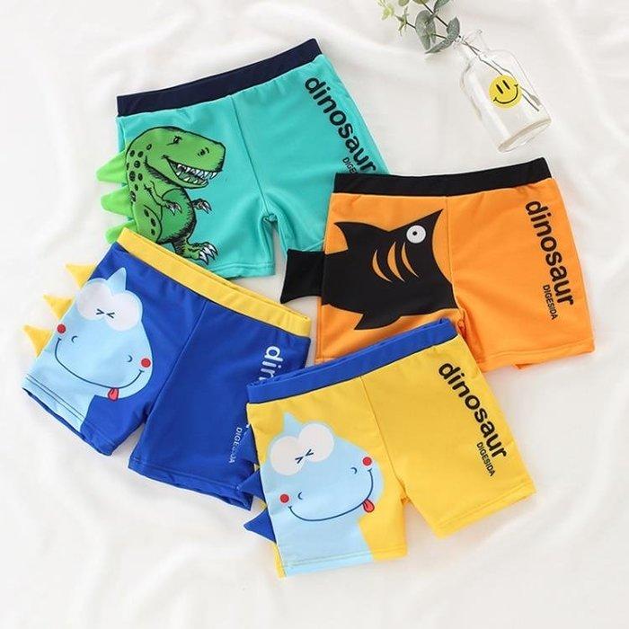 兒童泳衣男童小童寶寶嬰兒平角泳褲可愛恐龍鯊魚中大童游泳褲泳裝·